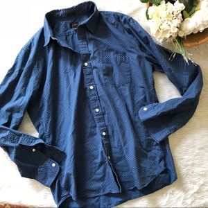 J.Crew Men's Slim Blue Dot Buttondown